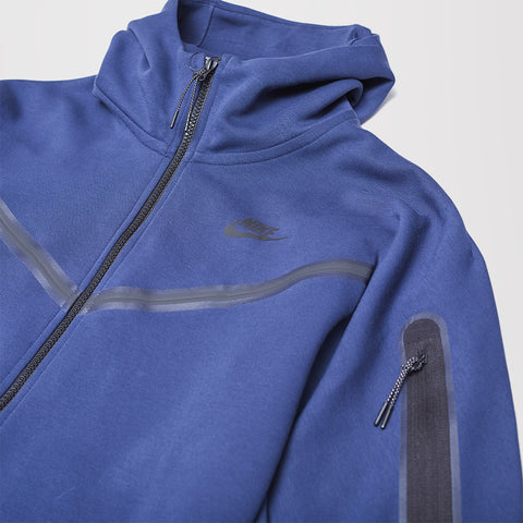 NIKE TECH FLEECE HOODIE MIDNIGHT NAVY