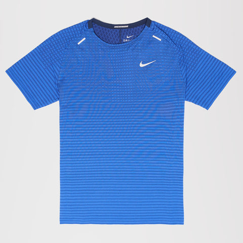 NIKE TECHKNIT ULTRA RUNNING T-SHIRT BLUE