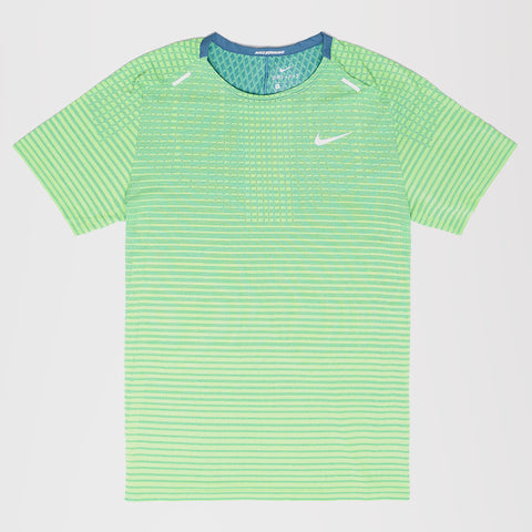 NIKE TECHKNIT ULTRA RUNNING T-SHIRT GREEN