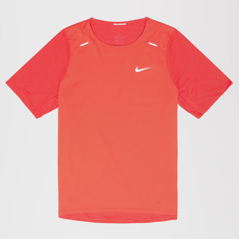 NIKE HYBRID BREATHE RISE 365 T-SHIRT RED