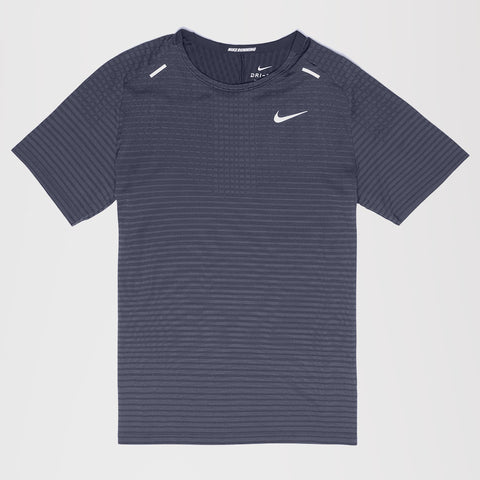 NIKE TECHKNIT ULTRA RUNNING T-SHIRT GREY/BLACK