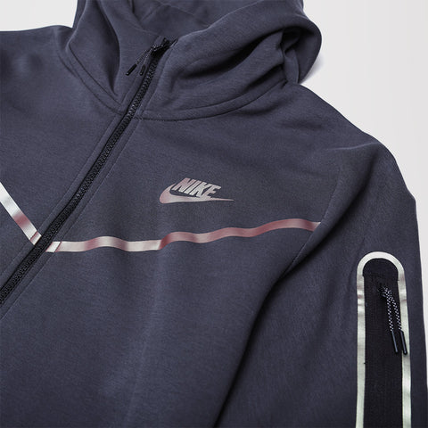 NIKE TECH FLEECE FULL ZIP HOODIE DARK SMOKE GREY