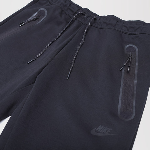 NIKE TECH FLEECE STRAIGHT LEG JOGGERS BLACK