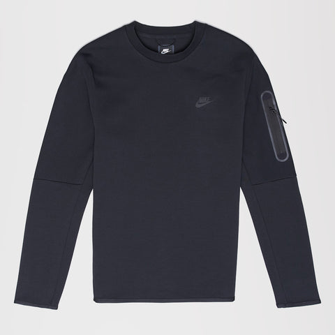 NIKE TECH FLEECE CREW SWEATSHIRT BLACK