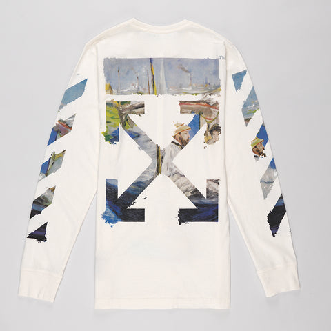 OFF-WHITE DIAG ARROWS LONG SLEEVE T-SHIRT OFF WHITE