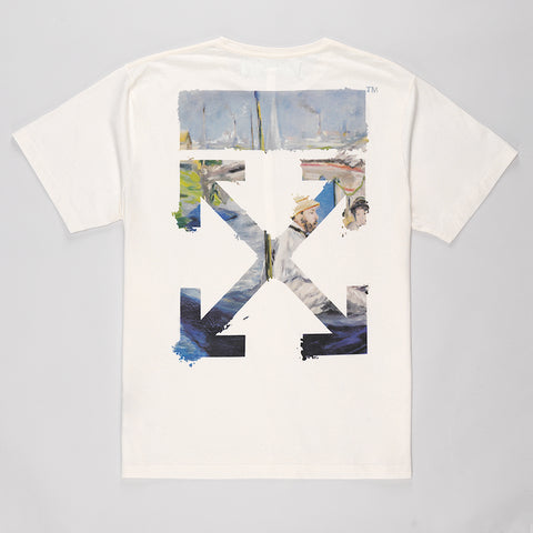 OFF-WHITE DIAG ARROWS SHORT SLEEVE T-SHIRT OFF WHITE