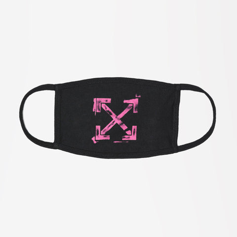 OFF-WHITE ARROW PRINTED MASK BLACK