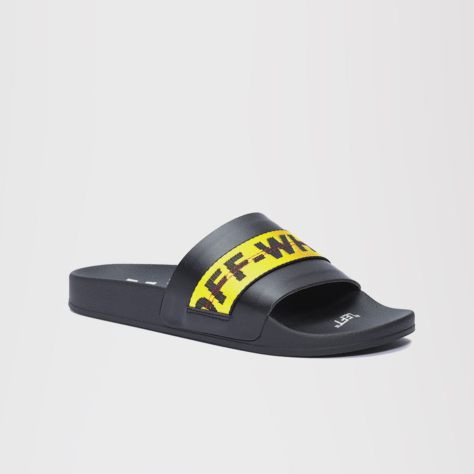 OFF-WHITE LOGO BELT STRAP SLIDES