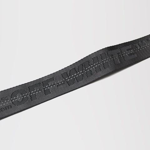 OFF-WHITE LOGO INDUSTRIAL BELT BLACK