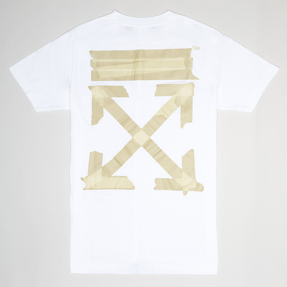 OFF-WHITE TAPE ARROWS SHORT SLEEVE T-SHIRT WHITE