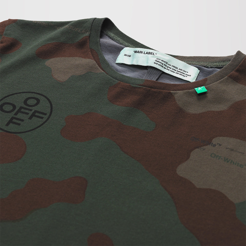 OFF-WHITE CAMOUFLAGE LOGO PRINT T-SHIRT
