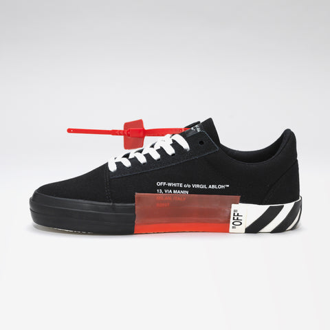 OFF-WHITE VULCANISED STRIPED LOW SNEAKERS BLACK