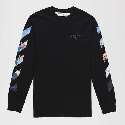 OFF-WHITE DIAG ARROWS LONG SLEEVE T-SHIRT BLACK