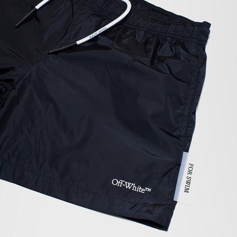 OFF-WHITE SHELL SWIM SHORTS BLACK
