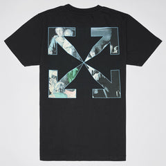 OFF-WHITE CARAVAGGIO PAINTING SHORT SLEEVE T-SHIRT BLACK