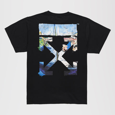 OFF-WHITE DIAG ARROWS SHORT SLEEVE T-SHIRT BLACK