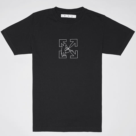 OFF-WHITE LOGO WORKERS SHORT SLEEVE T-SHIRT BLACK