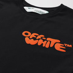 OFF-WHITE ORANGE LOGO IMPRESSIONISM TSHIRT BLACK