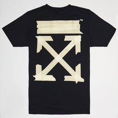 OFF-WHITE TAPE ARROWS SHORT SLEEVE T-SHIRT BLACK