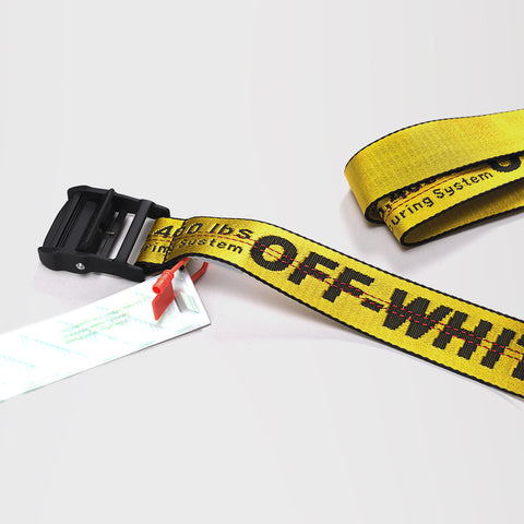 OFF-WHITE LOGO INDUSTRIAL BELT YELLOW