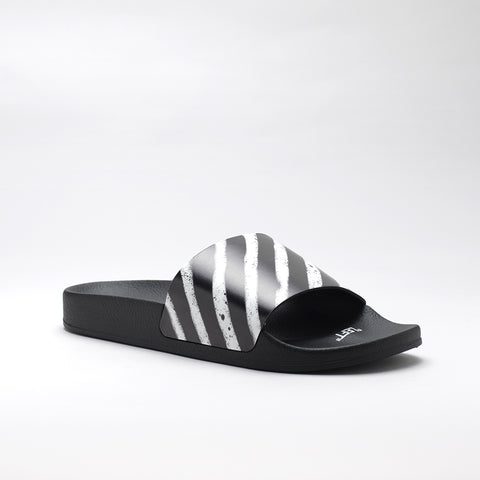 OFF-WHITE RUBBER SLIDES BLACK