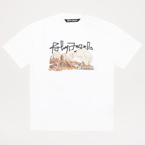 PALM ANGELS DESERT SKULL T-SHIRT WHITE