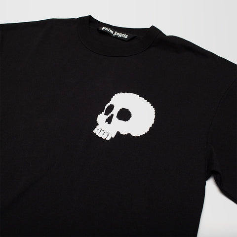 PALM ANGELS SKULL LOGO LONG SLEEVE T-SHIRT BLACK