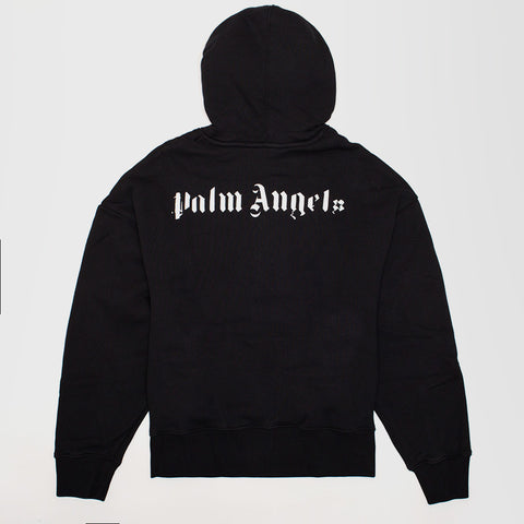 PALM ANGELS SKULL GRAPHIC-PRINT COTTON-JERSEY HOODY BLACK