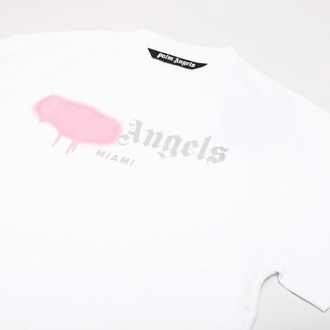 PALM ANGELS LOGO-PRINT T-SHIRT BLACK