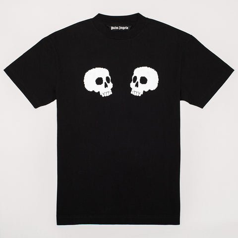 PALM ANGELS SKULL LOGO T-SHIRT BLACK