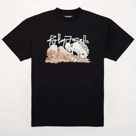 PALM ANGELS DESERT SKULL T-SHIRT BLACK