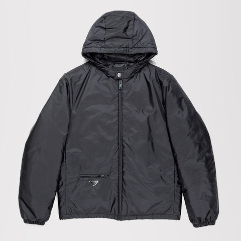PRADA NYLON PIUMA LIGHTWEIGHT JACKET BLACK