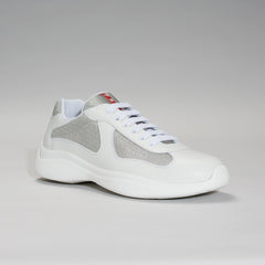 PRADA AMERICA'S CUP LEATHER WHITE/SILVER