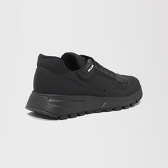 PRADA PRAX 01 GABARDINE FABRIC SNEAKERS BLACK