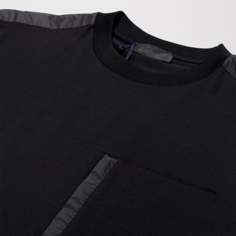PRADA CHEST POCKET TSHIRT BLACK