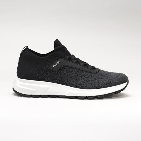 PRAX 01 STRETCH-KNIT TRAINERS BLACK/GREY