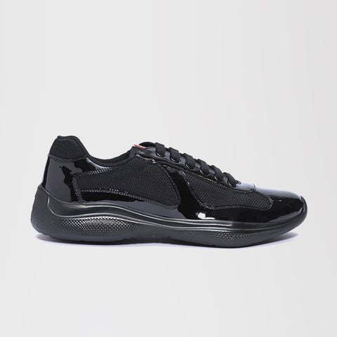 PRADA AMERICA'S CUP PATENT LEATHER BLACK