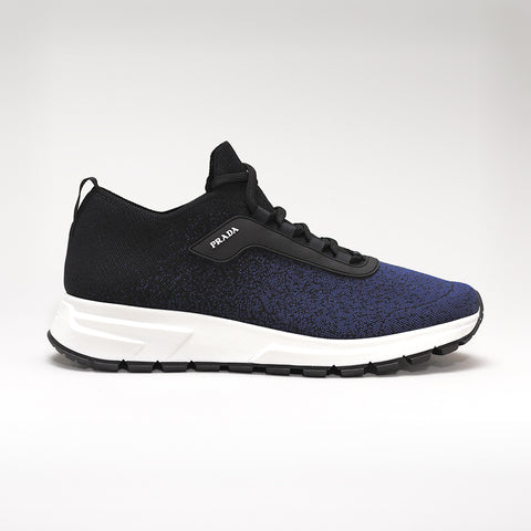 PRAX 01 STRETCH-KNIT TRAINERS BLACK/BLUE