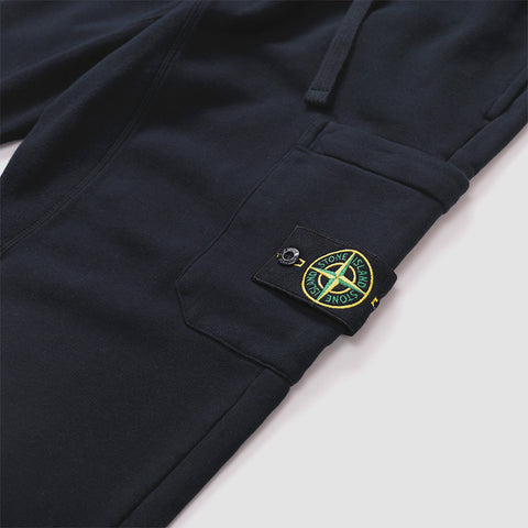 STONE ISLAND LOGO PATCH JOGGING BOTTOMS NAVY