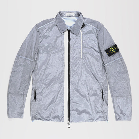 STONE ISLAND LIGHT WEIGHT SHIRT JACKET SILVER