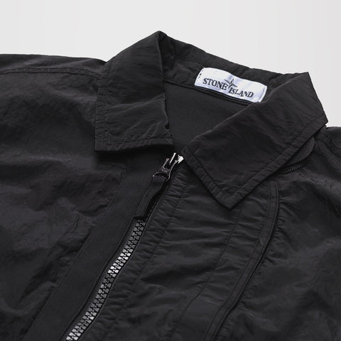 STONE ISLAND LIGHT WEIGHT SHIRT JACKET BLACK