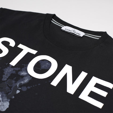 STONE ISLAND GRAPHIC SEVEN' PRINT T-SHIRT IN BLACK