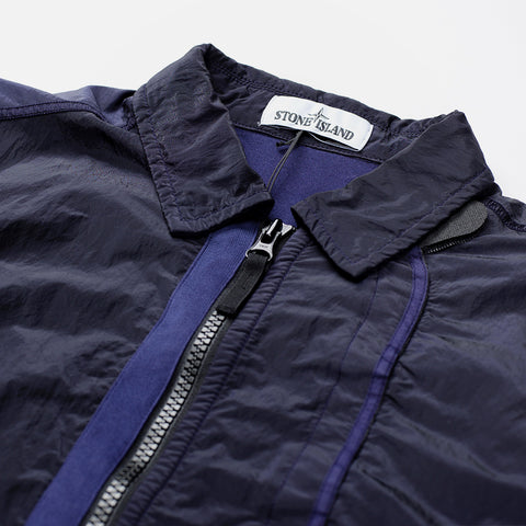 STONE ISLAND LIGHT WEIGHT SHIRT JACKET INK BLUE