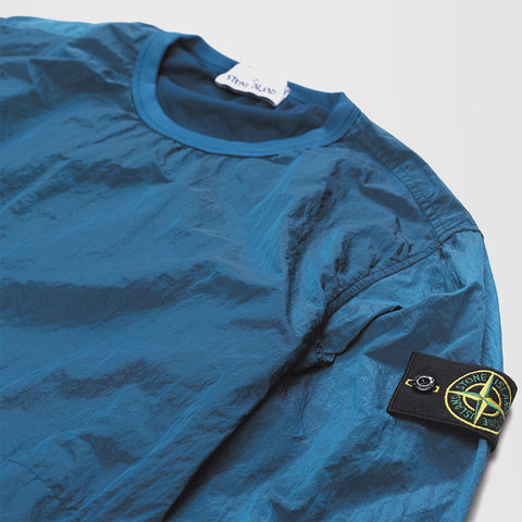 STONE ISLAND NYLON METAL SWEATSHIRT BLUE