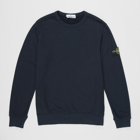 STONE ISLAND LOGO PATCH SWEATSHIRT NAVY