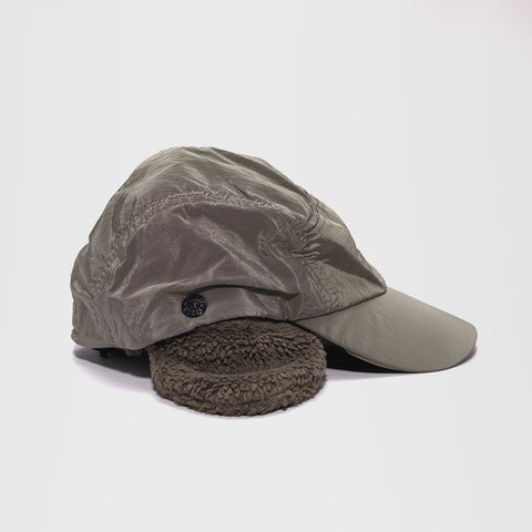 STONE ISLAND COVERED EAR FLAP CAP OLIVE