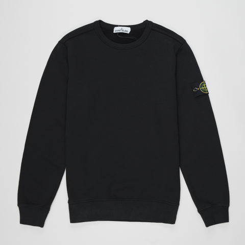 STONE ISLAND LOGO PATCH SWEATSHIRT BLACK