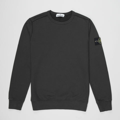 STONE ISLAND LOGO PATCH SWEATSHIRT CHARCOAL