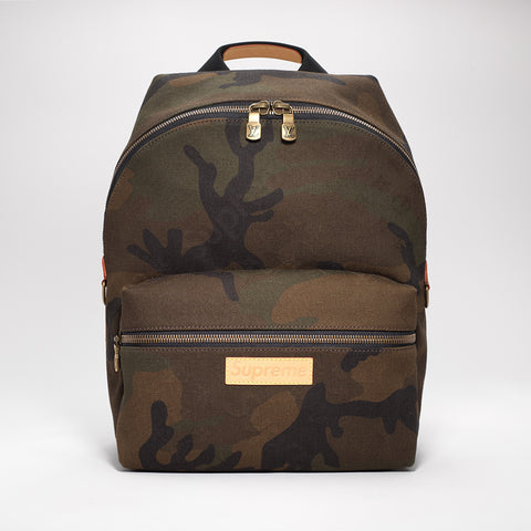 LOUIS VUITTON X SUPREME CAMO RUCKSACK