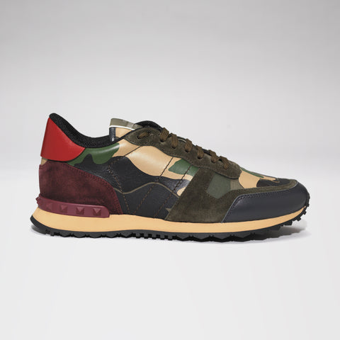 VALENTINO CAMO ROCKRUNNER GREEN/CREAM/RED